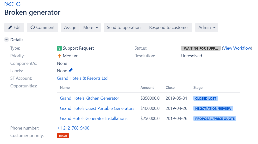 Integrating Salesforce data in Jira with Elements Connect