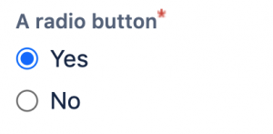 Jira radio button custom field